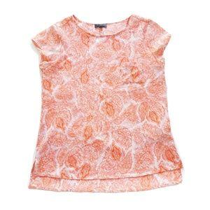 Orange and white Blouse